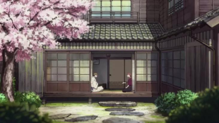 Yotarou and Kontasu having a talk